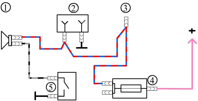 Схема звукового коврика